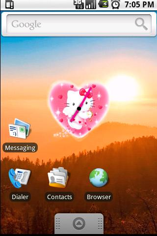 Hello Kitty Clock Widget - screenshot
