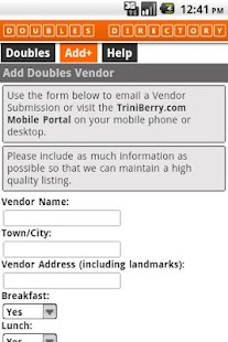 T&T Doubles Vendor Directory - screenshot thumbnail
