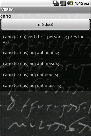 Verba-Android Latin Dictionary- screenshot