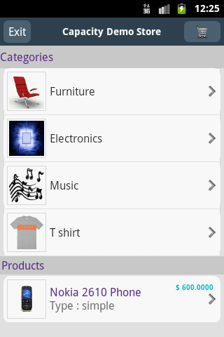 Magento Mobile Store - screenshot