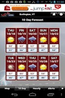Screenshot of WCAX WEATHER