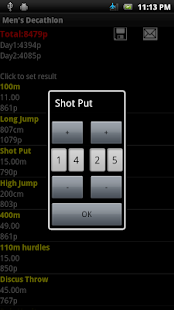 Decathlon Points Calculator - screenshot thumbnail
