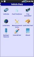 Screenshot of Vehicle Diary - Old