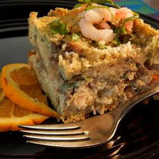 Seafood Strata with Pesto
