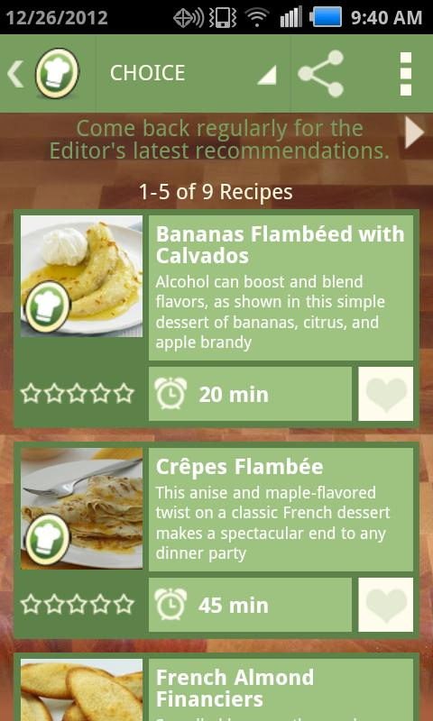 Top Recipes - screenshot