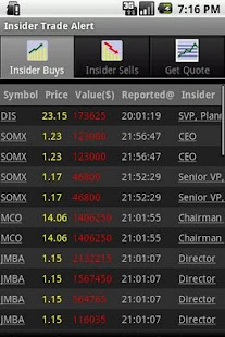 Insider Trade Alert - screenshot thumbnail