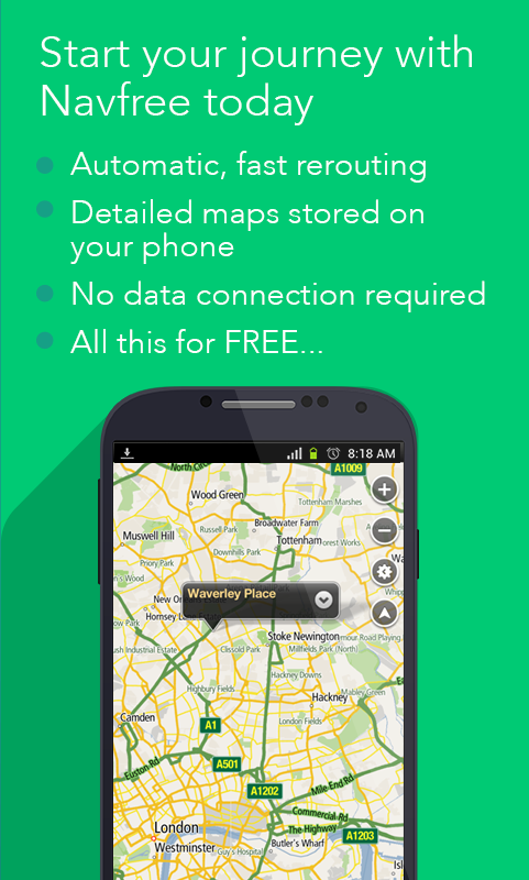 Navfree: Free GPS Navigation - screenshot