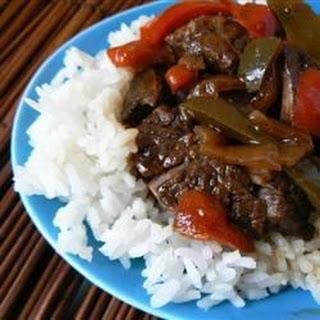 Maria's Pepper Steak.