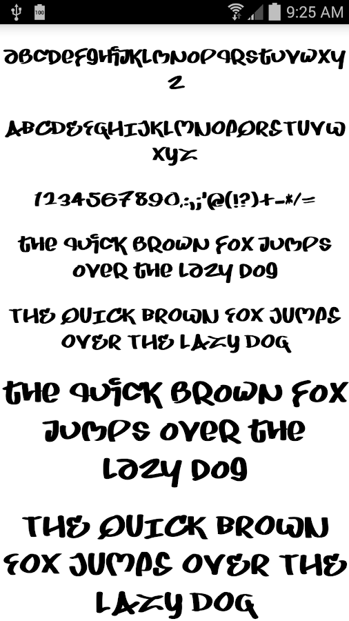 Fonts for FlipFont Graffiti- screenshot