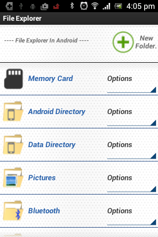 File Explorer in Android