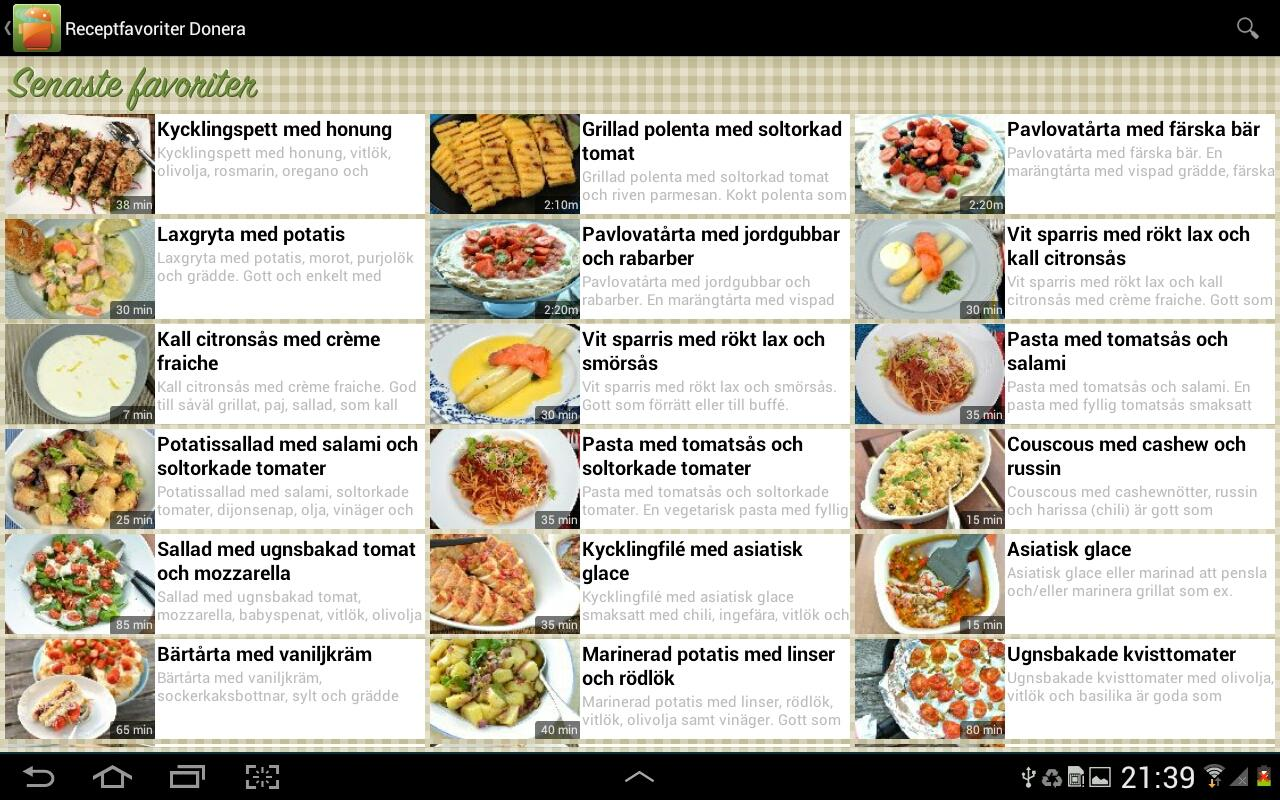Receptfavoriter recept - screenshot