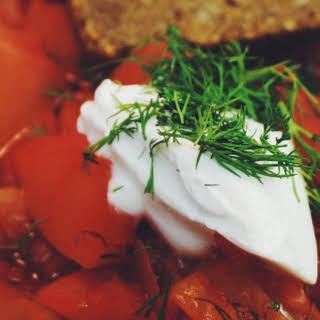 Borsch – Russian Beet Soup.