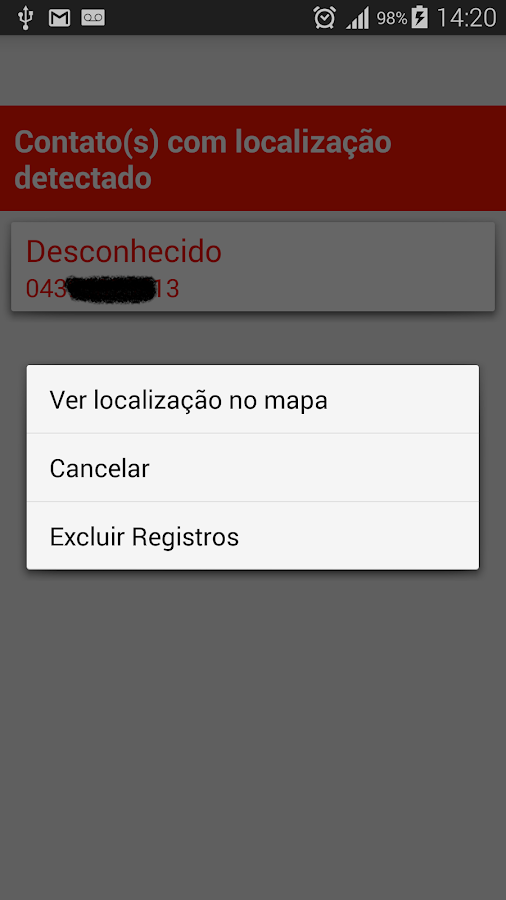 Rastreador celular/celular SMS- screenshot