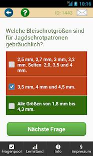 Fit für die Jägerprüfung Screenshot
