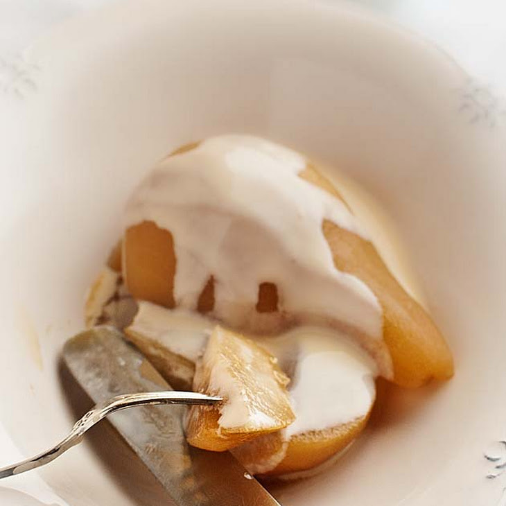 Cider Pears with Custard Recipe