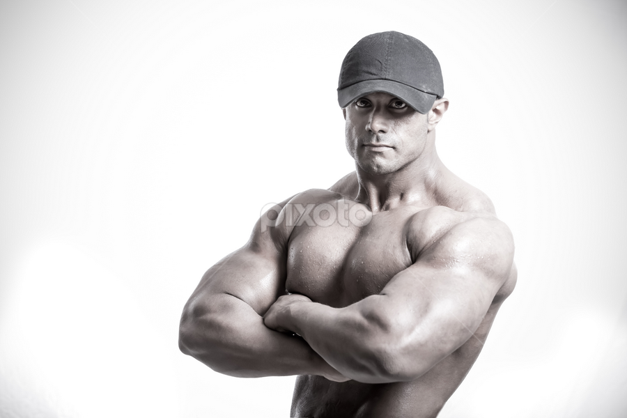 Strong Man by Jack Michael - Sports & Fitness Fitness ( fitness, strong, bodybuilding, portrait, man )