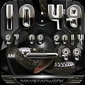 black snake digital clock icon