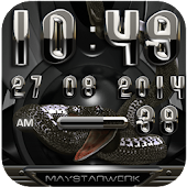 black snake digital clock