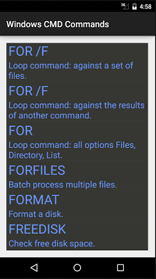 Windows CMD Commands Reference - screenshot