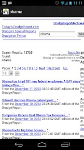 Drudge Report On Droid Pro - screenshot thumbnail