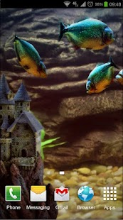 Piranha Aquarium 3D lwp Screenshot