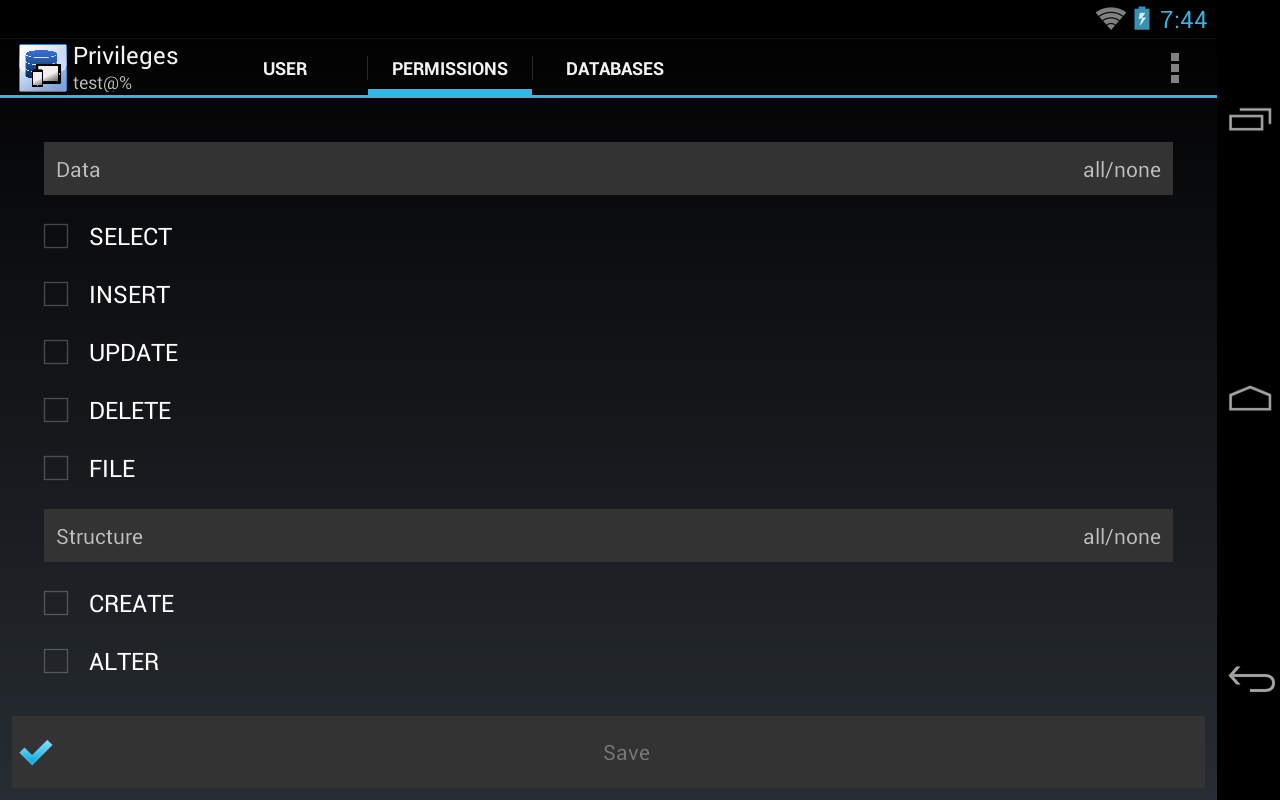 ProSQL - MySQL Client - screenshot