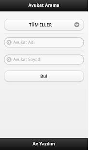 Avukat Arama (Ae Yazılım) - screenshot thumbnail