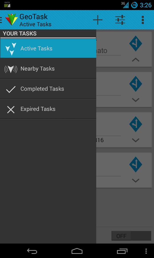 GeoTask Pro- screenshot