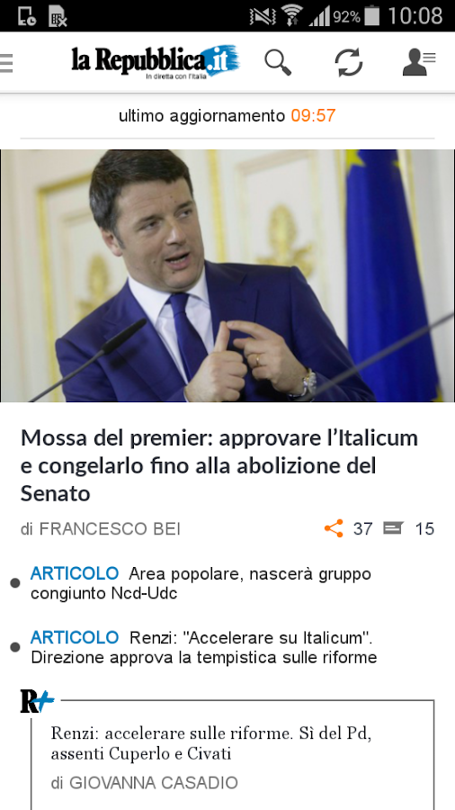 la Repubblica.it - screenshot