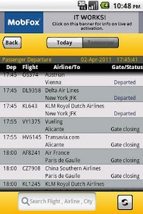 Amsterdam Airport Flight Info - screenshot thumbnail