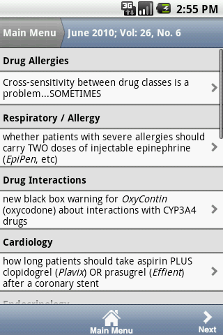 Pharmacist's Letter® - screenshot