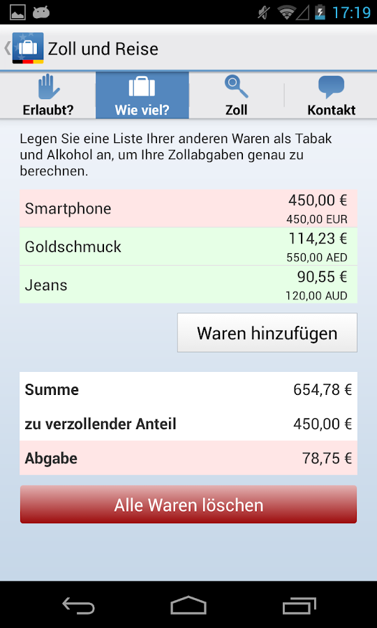 Zoll und Reise - Android Apps on Google Play