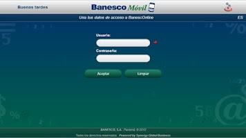 Screenshot of BanescoMóvil Panamá Tablet