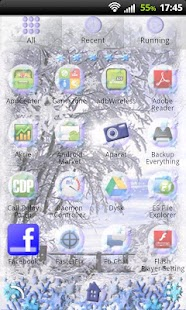 GO Launcher EX Winter Theme - screenshot thumbnail