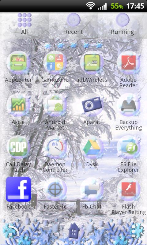 GO Launcher EX Winter Theme - screenshot