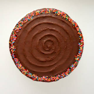 Classic Yellow Cake with Chocolate Fudge Frosting.