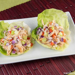 Healthy Chipotle Chicken Vegetable Lettuce Wraps Recipe