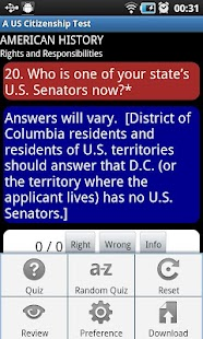 A US Citizenship (Civics) Test - screenshot thumbnail