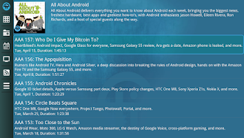Screenshot of TWiT.TV for Google TV