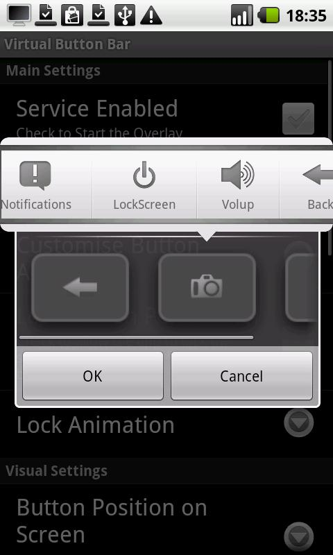 Virtual Button Bar (Trial)- screenshot