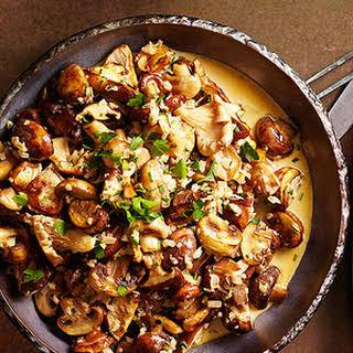 Mushroom Fricassee with Fresh Herbs.
