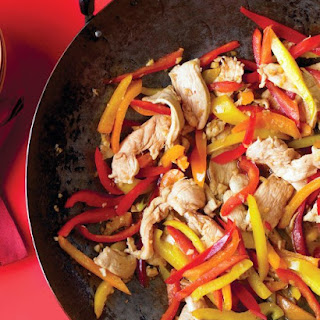 Stir-Fried Honey-Ginger Chicken with Peppers.