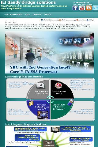 IEI Sandy Bridge solutions