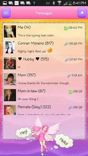 【免費個人化App】GO SMS - Fairy Cutie-APP點子