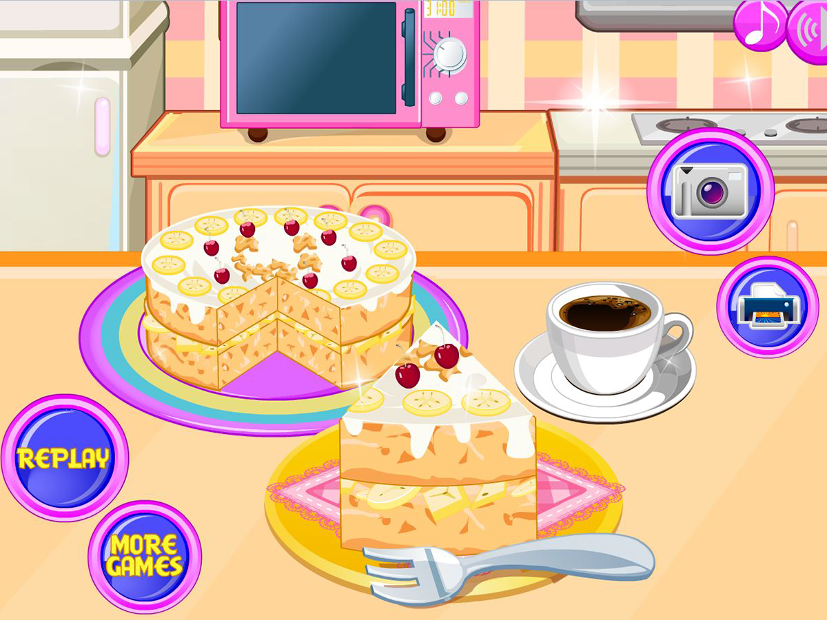 Cooking banana split cake - screenshot