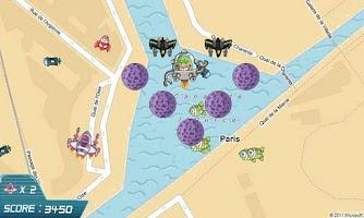 Screenshot of GPS Invaders