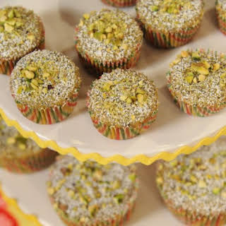 Brown Butter Pistachio and Poppy Seed Financiers.