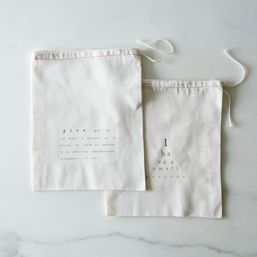 Cotton Printed Gift Bags (Set of 2)
