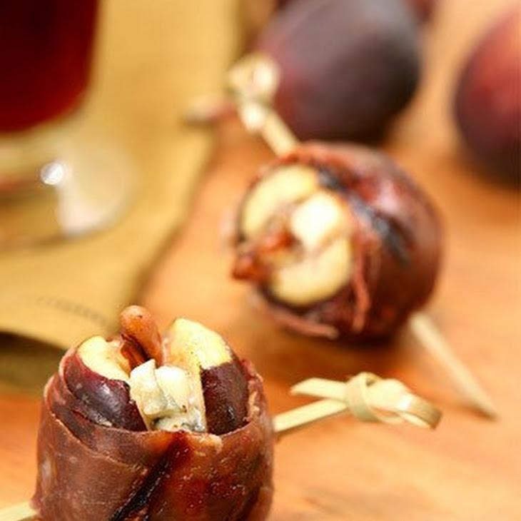 Grilled Prosciutto-Wrapped Figs with Blue Cheese and Pecans Recipe