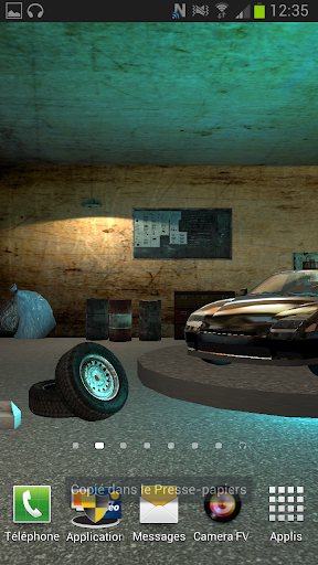 3d Live wallpaper Garage